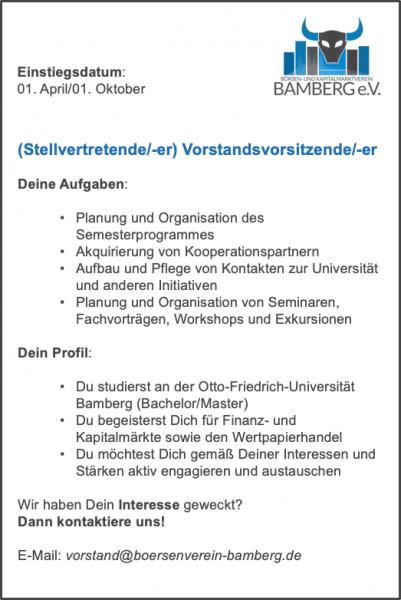 Ausschreibung_(Stellvertretende:-er) Vorstandsvorsitzende:-er